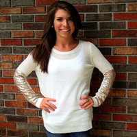 Time to Shine Sweater Ivory