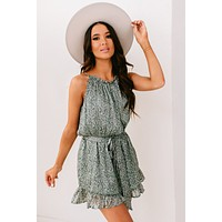 Pretty As Can Be Floral Print Romper (Sage Floral)