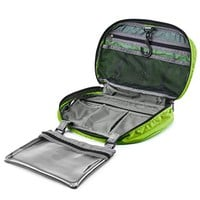 """Hanging Toiletry Bag, Gonex Travel Cosmetic Makeup Organizer with Zipper Closure, 8""""x13"""" Green"""
