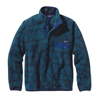 Patagonia Men's Lightweight Synchilla® Snap-T® Pullover | Shale: Navy Blue