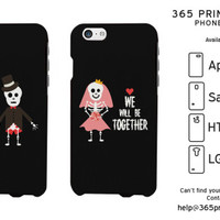Until Death Do Us Part Skeleton Couple Phone Case - 365 Printing Inc