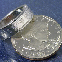 COIN RING JEWELRY (Susan B Anthony Dollar) (Reverse) Choose The (Year and Ring Size) You Want