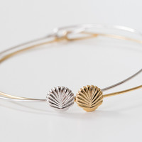 seashell bangle bracelet