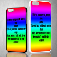 blink song lyric X0935 iPhone 4S 5S 5C 6 6Plus, iPod 4 5, LG G2 G3 Nexus 4 5, Sony Z2 Case