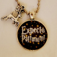 Harry Potter Patronus Necklace. Expecto Patronum Stag Necklace. Harry Potter Inspired. 18 Inch Ball Chain.