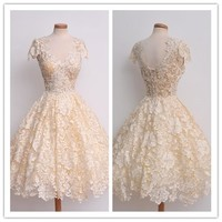 2017 Sexy Lace Slim Dress Women Wedding Party Gown Dresses Bubble dress Summe Wedding Party Dress