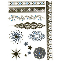 Filigree/Sun Metallic Temporary Tattoos | Hair & Skin