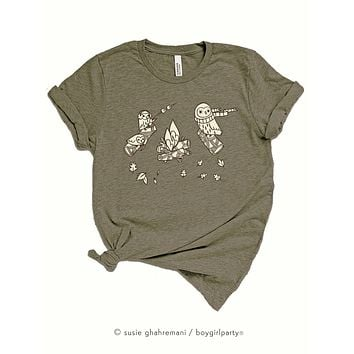 Nature T-shirt for Women / Girls -- Relaxed Fit Autumn Tee