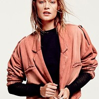 Free People Womens FP New Romantics Earhart Jacket - Brick