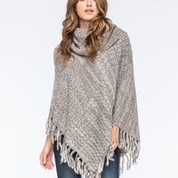 WOVEN HEART Marled Cowl Womens Poncho Sweater | Outdoor Wanderlust