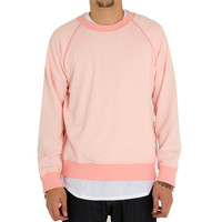 4 Zippers Raglan Sweatshirt In Hotline Pink