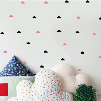 Cute Little Cloud Wall Decal Wall Stickers Diy Home Decoration Wall Art Wall Decal Decoration For Girls Baby Room