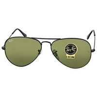 Cheap Ray-Ban Aviator Black/Green Sunglasses RB3025 L2823 outlet
