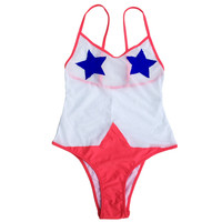 Mesh One Piece Swimwear Swimsuit Vintage Bathing Suit