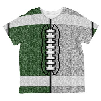 Fantasy Football Team Green and Silver All Over Toddler T Shirt
