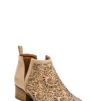 Jeffrey Campbell Oriley Bootie in Beige Gold Floral