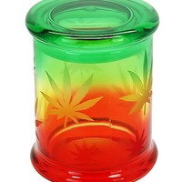 14 oz Rasta Leaf Storage Jar - Spencer's