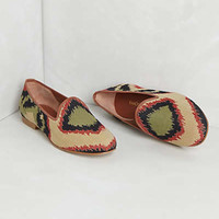 Ikat Canvas Loafers