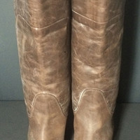 Frye 77534 Paige Tall Riding Brown Leather Biker Motorcycle  Riding Boots Women's Size 8
