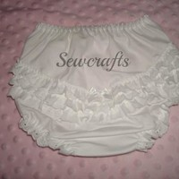 Diaper Covers - Bloomers - Ruffled Panty with white ribbon bow