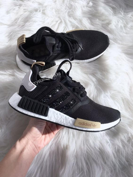 Image of Adidas NMD individuality Sequins Fashion Trending Women Leisure Running Sports Shoes