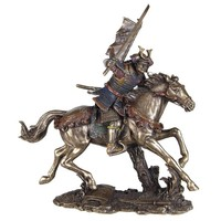Samurai on Horse with Flag and Sword Galloping - 5544