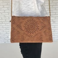 Acacia Crossbody Handbag in Brown