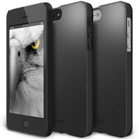 iPhone SE / 5S / 5 Case, Ringke [SLIM] Snug-Fit Slender [Tailored Cutouts] Ultra-Thin Superior Coating PC Hard Skin cover for Apple iPhone SE (2016) / 5S (2013) / 5 (2012) - SF Black