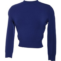 ALAIA Vtg 90s Knit CROP TOP Sweater Cropped Top Xs S