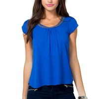 Flutter Away Beaded Top