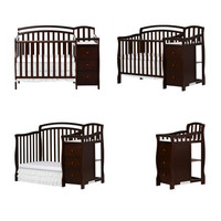 Infant, Baby 4 in 1 Convertible Crib to Twin Toddler Bed with Changer Combo with Dressers