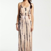Mimi Chica Tie Dye Cutout Back Tiered Maxi Dress (Juniors)   Nordstrom