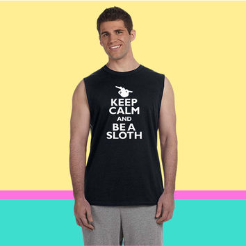 Keep Calm And Be A Sloth s Sleeveless T-shirt