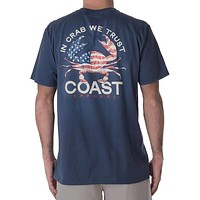 In Crab We Trust Classic Tee in Navy by Coast