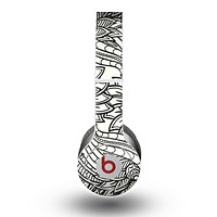 The Black & White Vector Floral Connect Skin for the Beats by Dre Original Solo-Solo HD Headphones