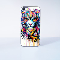 Painting Tiger Plastic Case Cover for Apple iPhone 5s 5 6 Plus 6 4 4s  5c