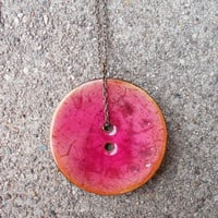 Coconut necklace, coconut buttons, button necklace, long pendant necklace, pendant necklace, unique OOAK necklace, bronze jewelry