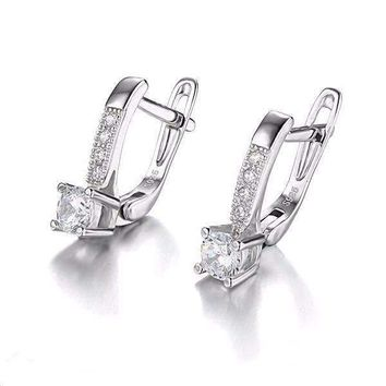 Irresistible 1CTW Cubic Zirconia Sterling Silver Drop Earrings