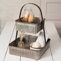 Two Tiered Corrugated Square Tray