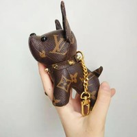 Louis Vuitton hot seller of cute printed dog handbags with glamour and key chains and key holders
