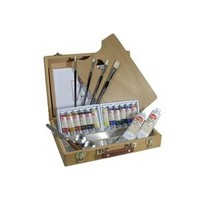 Utrecht Artists' Oil Paint Set, Wood Box Kit with 12 tubes, brushes & more - Oil Paint - Oil Painting Sets at Utrecht