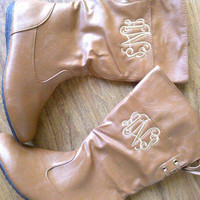 Girls monogram boots, riding boots, childrens boots, personalized boots