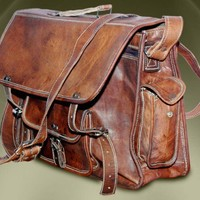 Handmade Pure Leather Laptop Macbook Bags Satchel Messenger handbag
