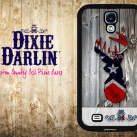 Rustic Inspired Samsung Galaxy s5 / Samsung Galaxy s4 / Samsung Galaxy s3 / Country Cell Phone Case - Rebel Flag Buck & Bow (CP0401)
