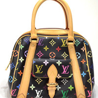 LOUIS VUITTON Monogram Multicolore Priscilla Hand Bag Noir M40097 Auth F/S JAPAN