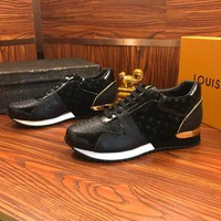 Louis Vuitton Lv Leather Sneakers Black - Best Online Sale