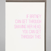 If Britney Can Get Through Card - Urban Outfitters