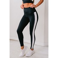 Put In The Work Laser-Cut Leggings (Black)