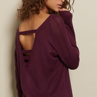 Strap Back Sweater Tunic