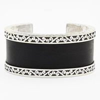 Women's Lois Hill Medium Leather & Sterling Silver Cuff